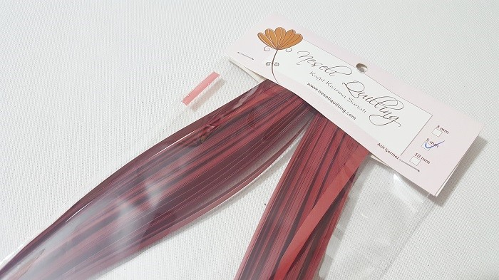 5mm Bordo Quilling Kağıdı